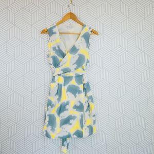 Diane von Furstenberg Carol Faux-Wrap Mini Dress